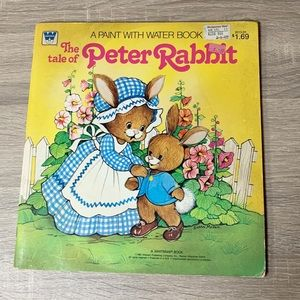 Vintage Peter Rabbit A paint with water book